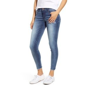 Wit and Wisdom Fray Hem Ankle Jeans